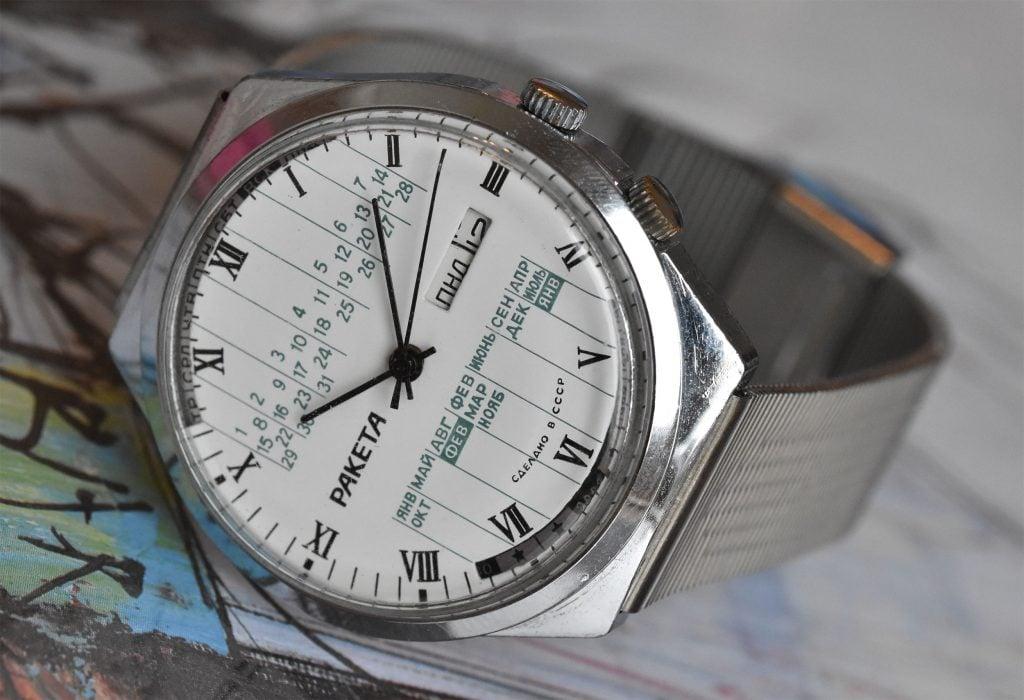 Raketa Perpetual Calendar in White