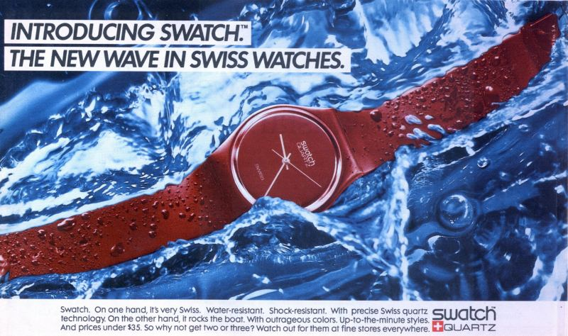 Swatch ad from 1983