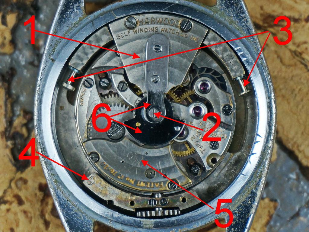 Harwood watch movement